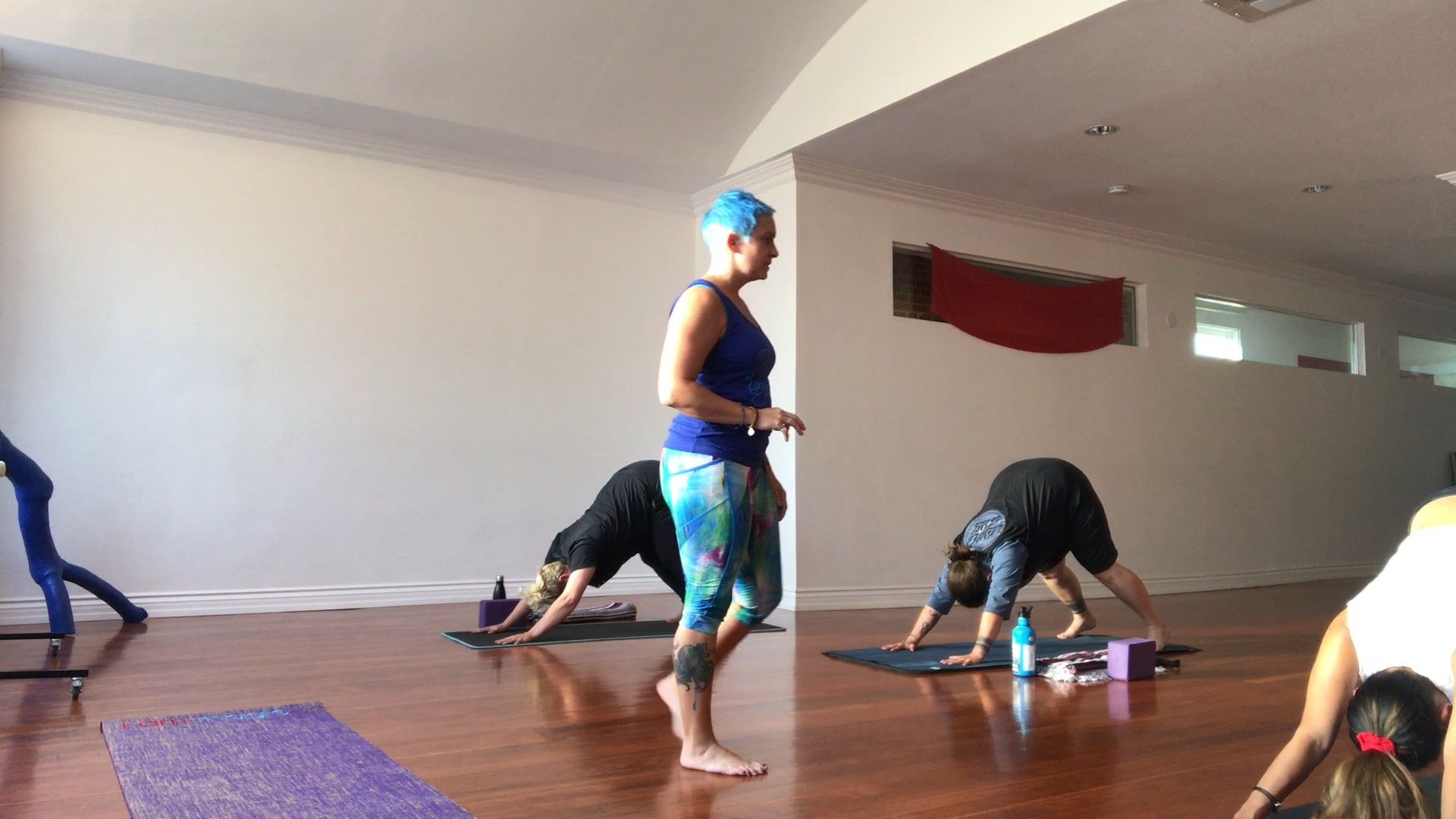 Me teaching during my Riding the Waves of Shakti workshop at Olive Yoga Long Beach on July 14, 2017.